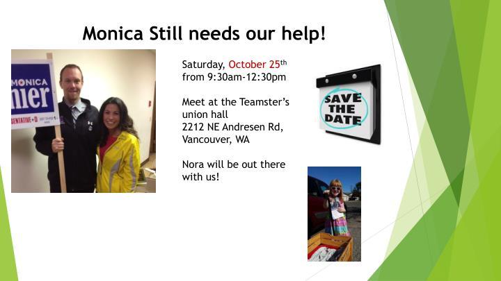 Monica Still needs our help!