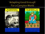 adapting good enough for a complex world1