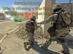 operations why is winning a war easy but keeping the peace hard