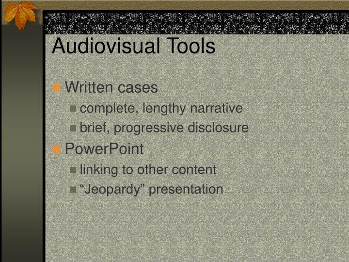 Audiovisual Tools
