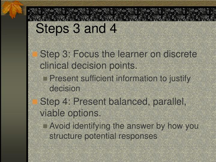 Steps 3 and 4