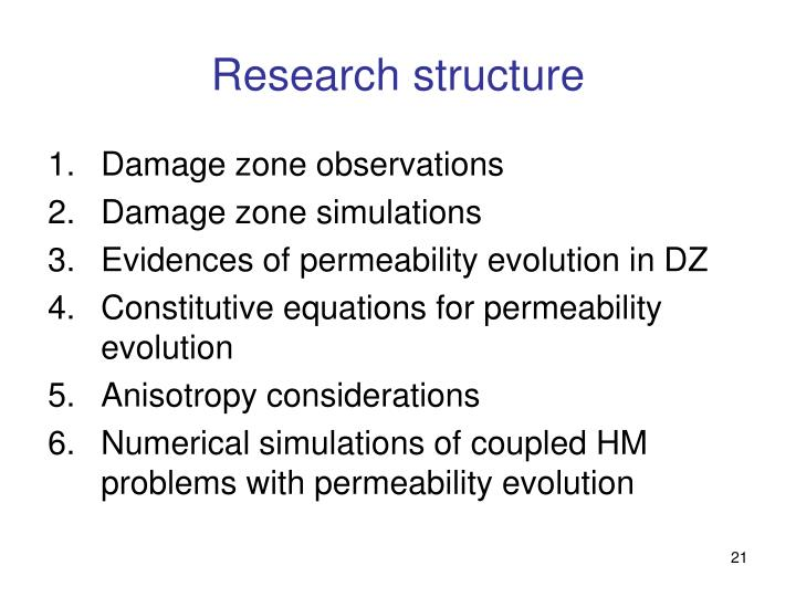 Research structure