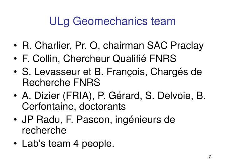 ULg Geomechanics team