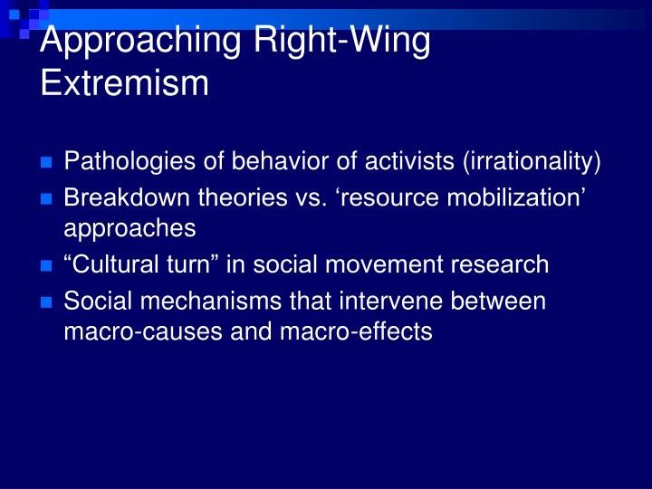 Approaching right wing extremism