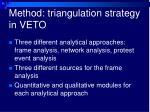 method triangulation strategy in veto