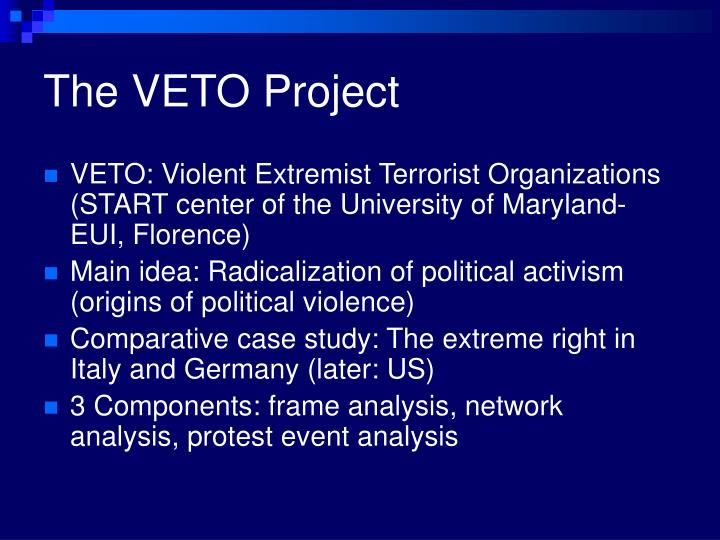 The veto project