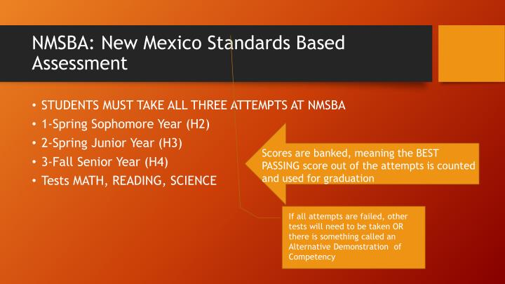 NMSBA: New Mexico Standards Based Assessment