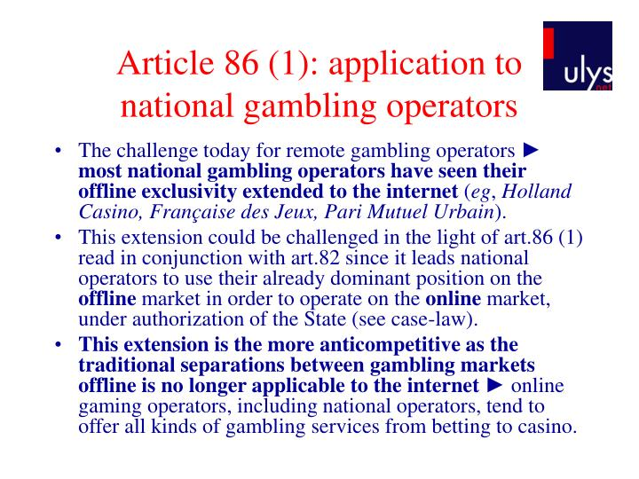 Article 86 (1): application to