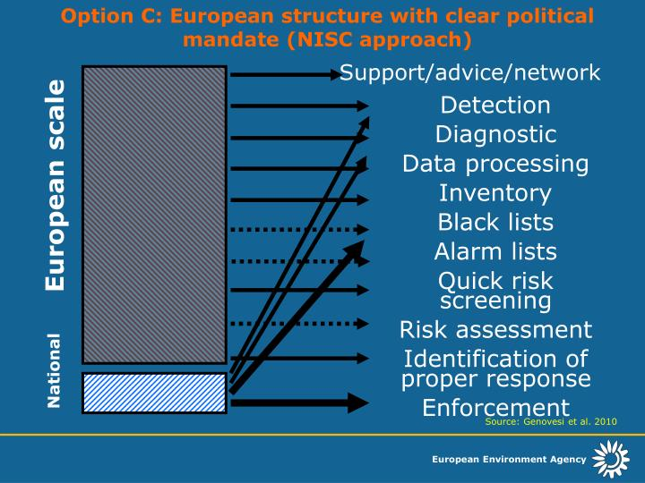 Option C: European structure with clear political mandate (NISC approach)