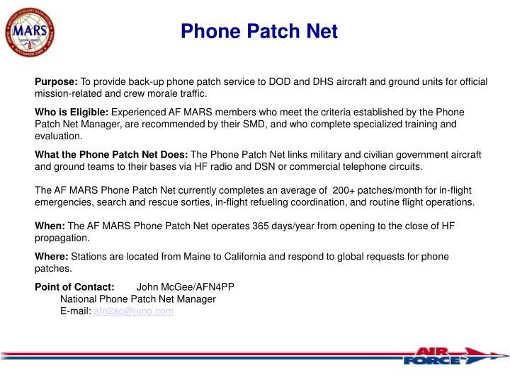 Phone Patch Net