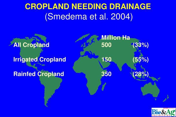 CROPLAND NEEDING DRAINAGE