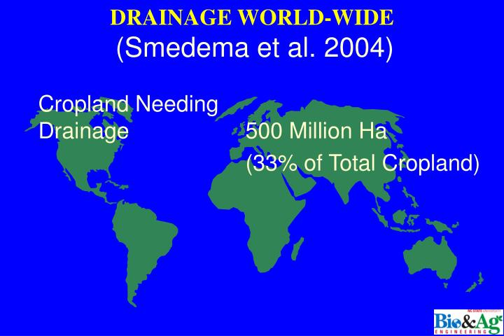 DRAINAGE WORLD-WIDE