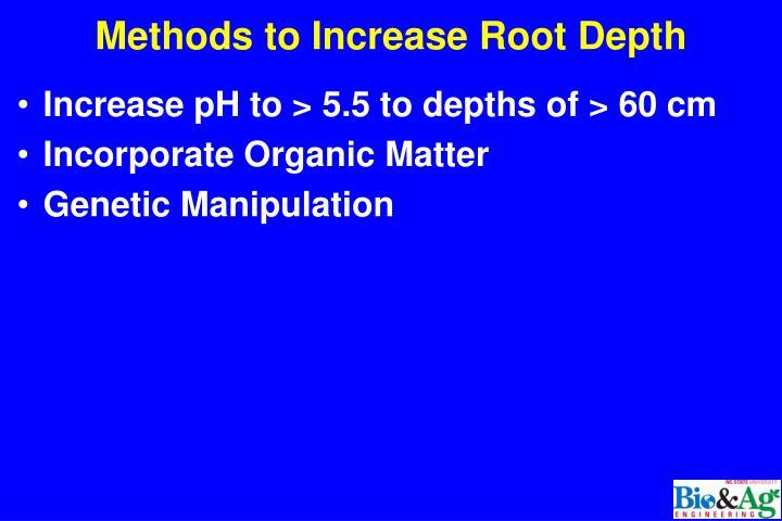 Methods to Increase Root Depth