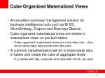 cube organized materialized views1