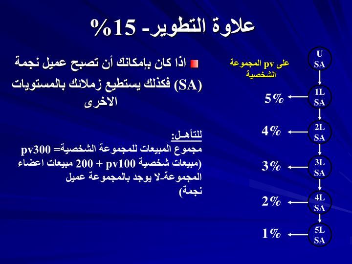 علاوة التطوير- 15%