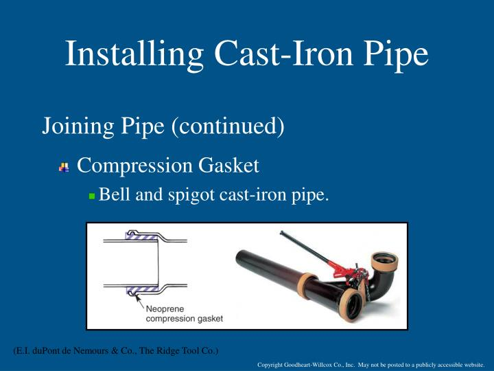 Installing Cast-Iron Pipe