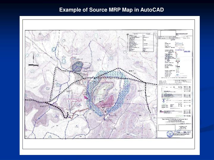 Example of Source MRP Map in AutoCAD