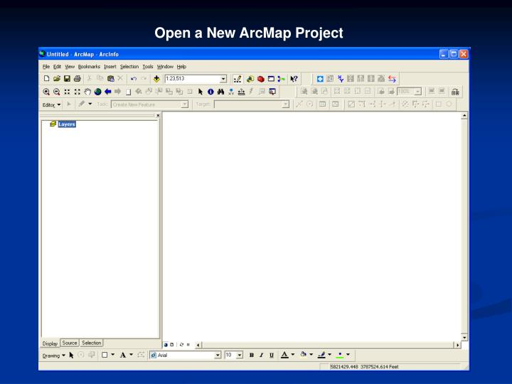 Open a New ArcMap Project