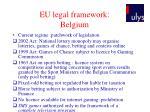 eu legal framework belgium