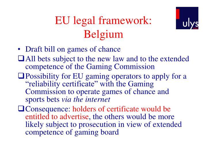 EU legal framework: