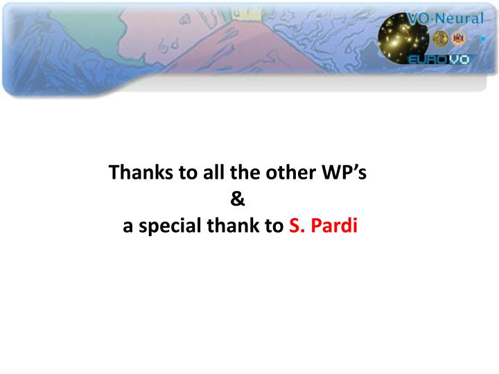 Thanks to all the other WP's