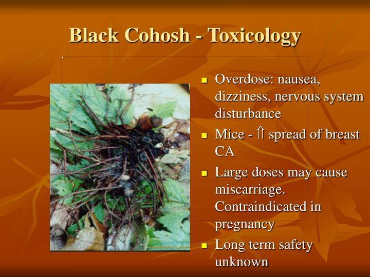 Black Cohosh - Toxicology
