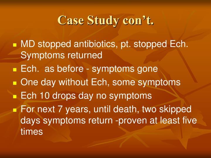 Case Study con't.