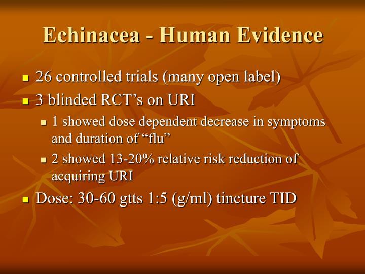 Echinacea - Human Evidence
