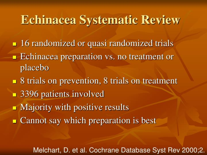 Echinacea Systematic Review