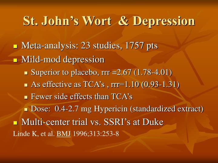 St. John's Wort  & Depression