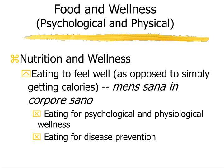 Food and Wellness