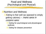 food and wellness psychological and physical1