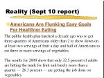 reality sept 10 report