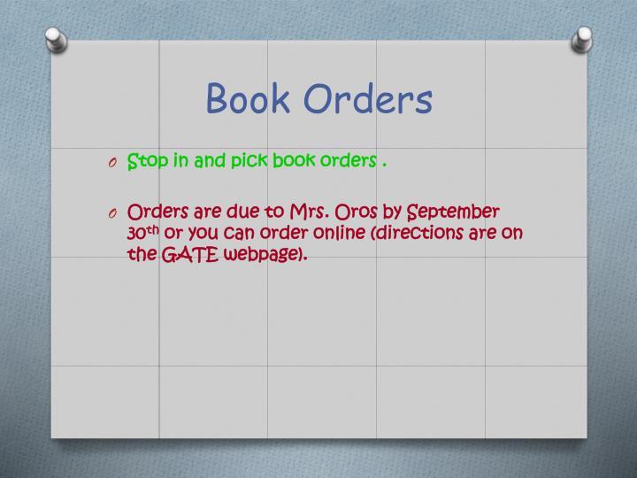 Book Orders