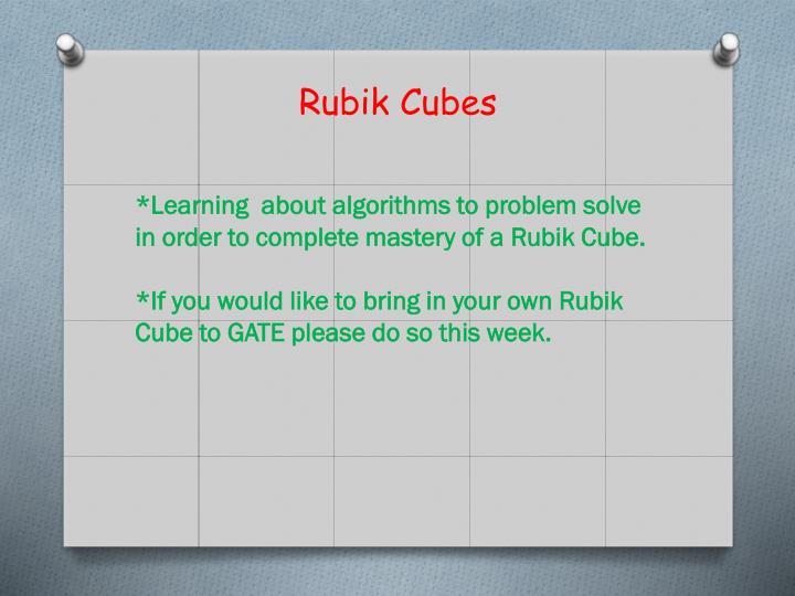 Rubik Cubes