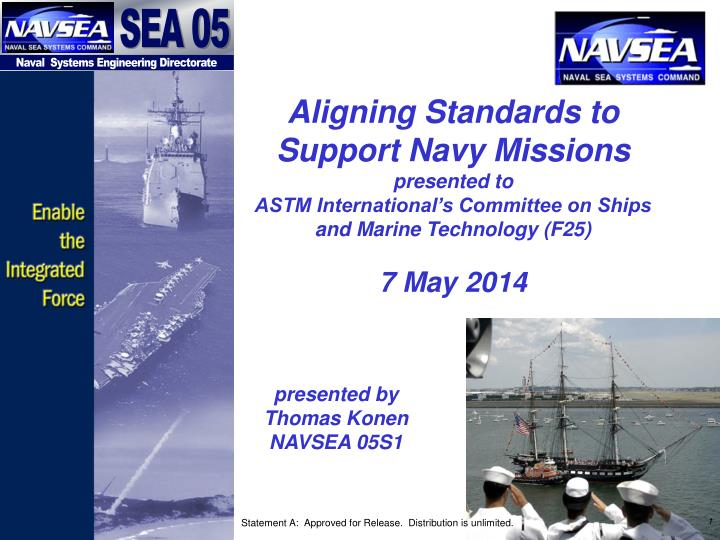 Aligning Standards to Support Navy