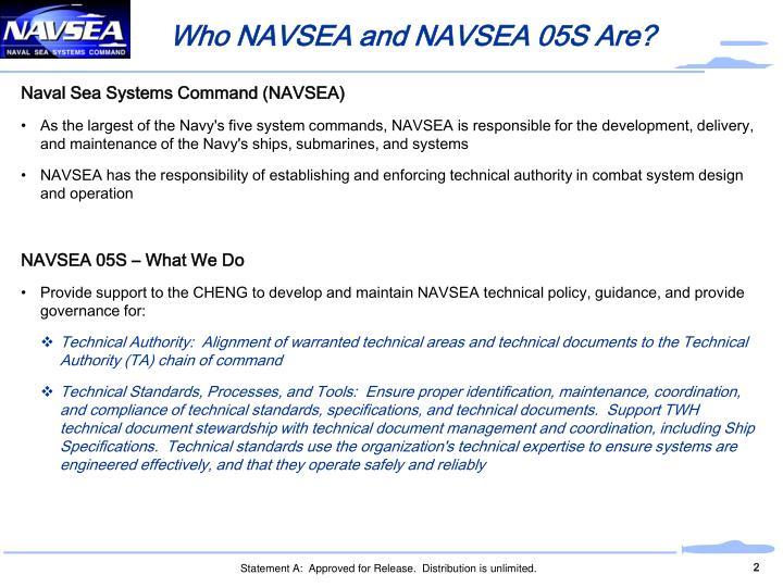 Who NAVSEA and NAVSEA 05S Are?