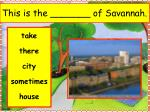 this is the of savannah