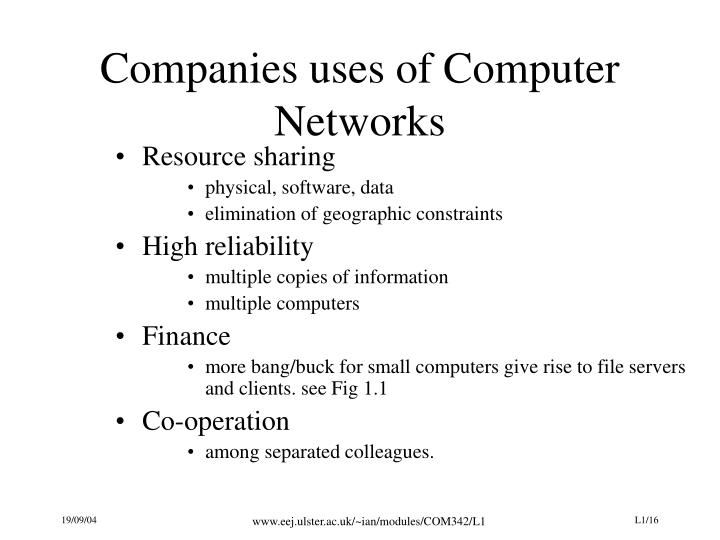 Companies uses of Computer Networks