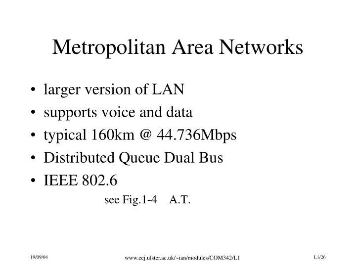 Metropolitan Area Networks