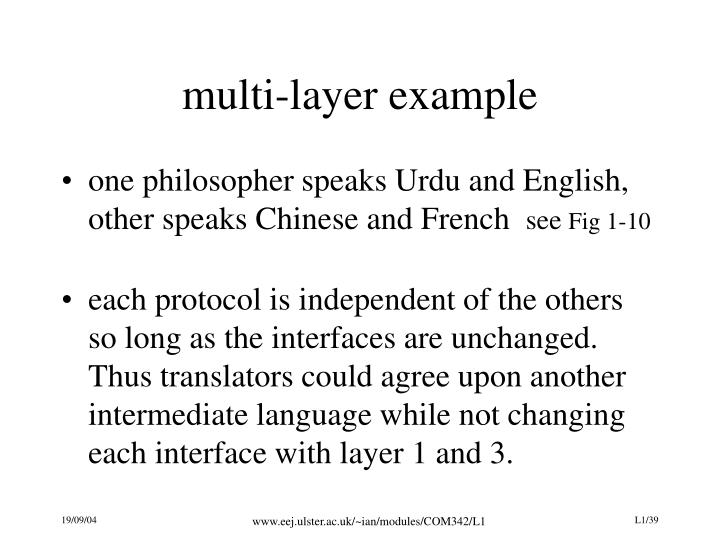 multi-layer example