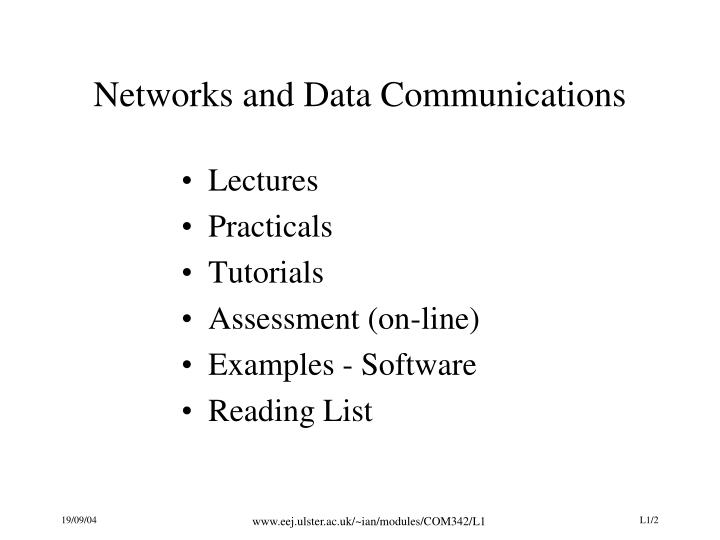 Networks and Data Communications