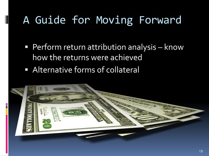 A Guide for Moving Forward