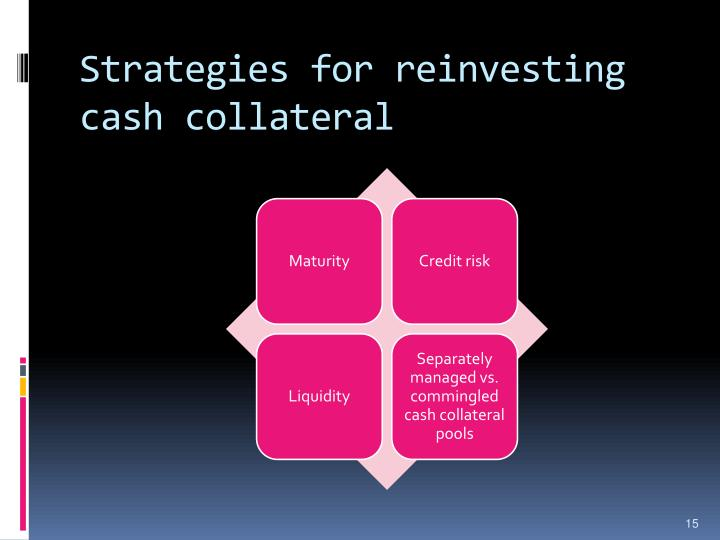 Strategies for reinvesting cash collateral