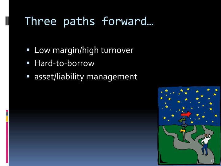 Three paths forward…