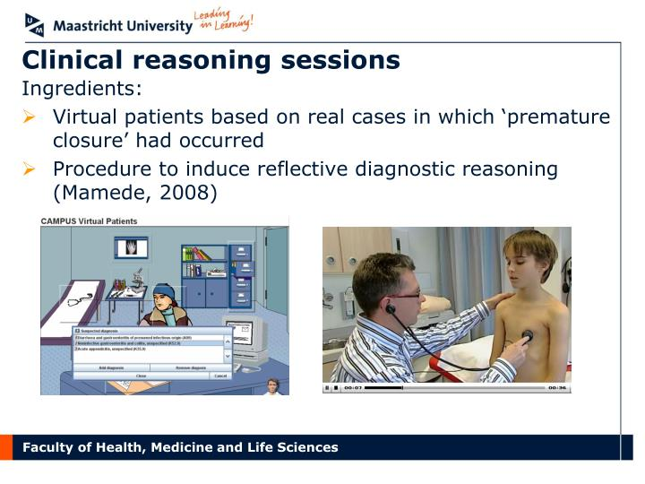 Clinical reasoning sessions