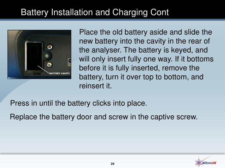 Battery Installation and