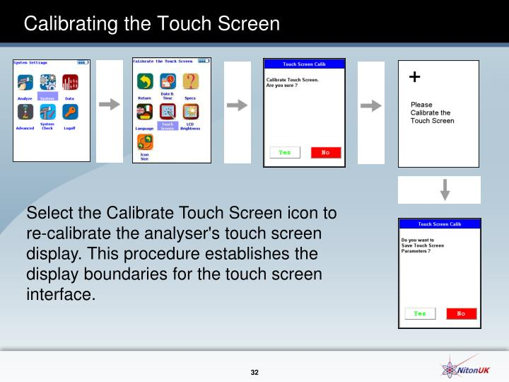 Calibrating the Touch Screen