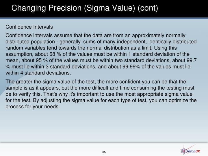 Changing Precision (Sigma