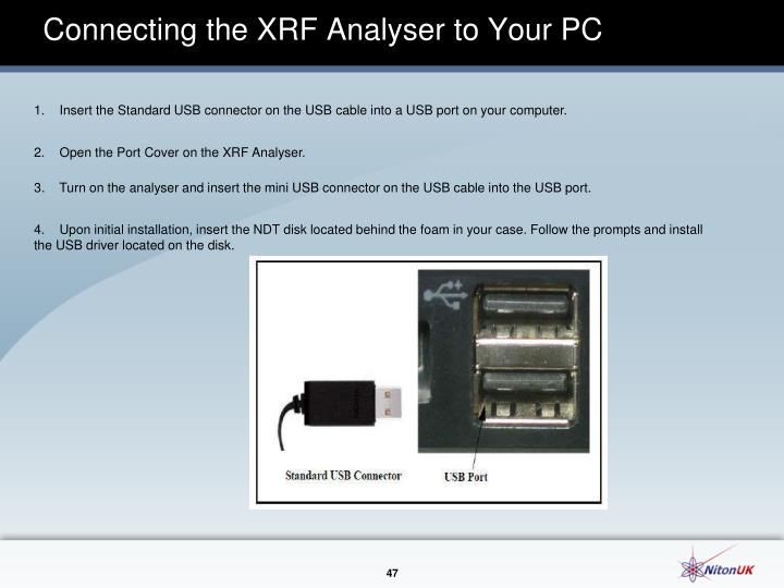 Connecting the XRF